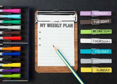colorful weekly plan background
